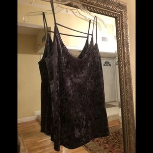 Socialite crushed velvet top in great condition!
